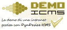 Prova la versione dimostrativa di una intranet gestita con DynDevice ICMS